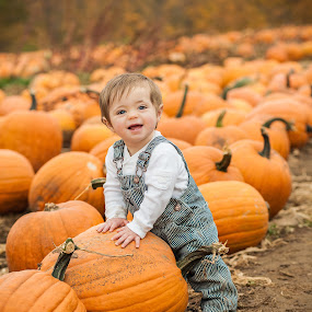 My Pumpkin by Mike DeMicco - Babies & Children Babies ( child, babies, pumpkin, fall, children, baby, kids, cute, kid, halloween )