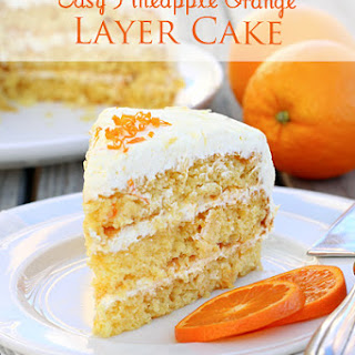 Easy Pineapple Orange Layer Cake.