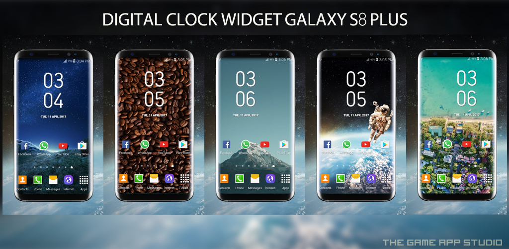 Download Galaxy S8 Plus Digital Clock Widget Pro + APK latest version 1 0 6  for android devices