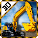 Real Heavy Excavator Crane 3D icon