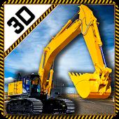 Real Heavy Excavator Crane 3D