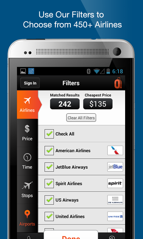 CheapOair Flights, Hotel & Car- screenshot