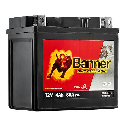 MC- Batteri 4 Ah YTX5L-BS Banner AGM