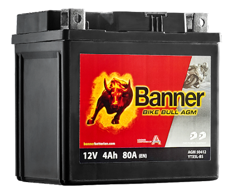 Banner Mc Batteri AGM YTX5L-BS 12V 4Ah