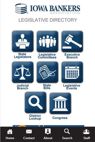 Iowa Bankers Legislative App