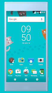 Funny Cats ND Xperia Theme - náhled