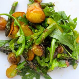 Roasted Potato, Asparagus and Arugula Salad