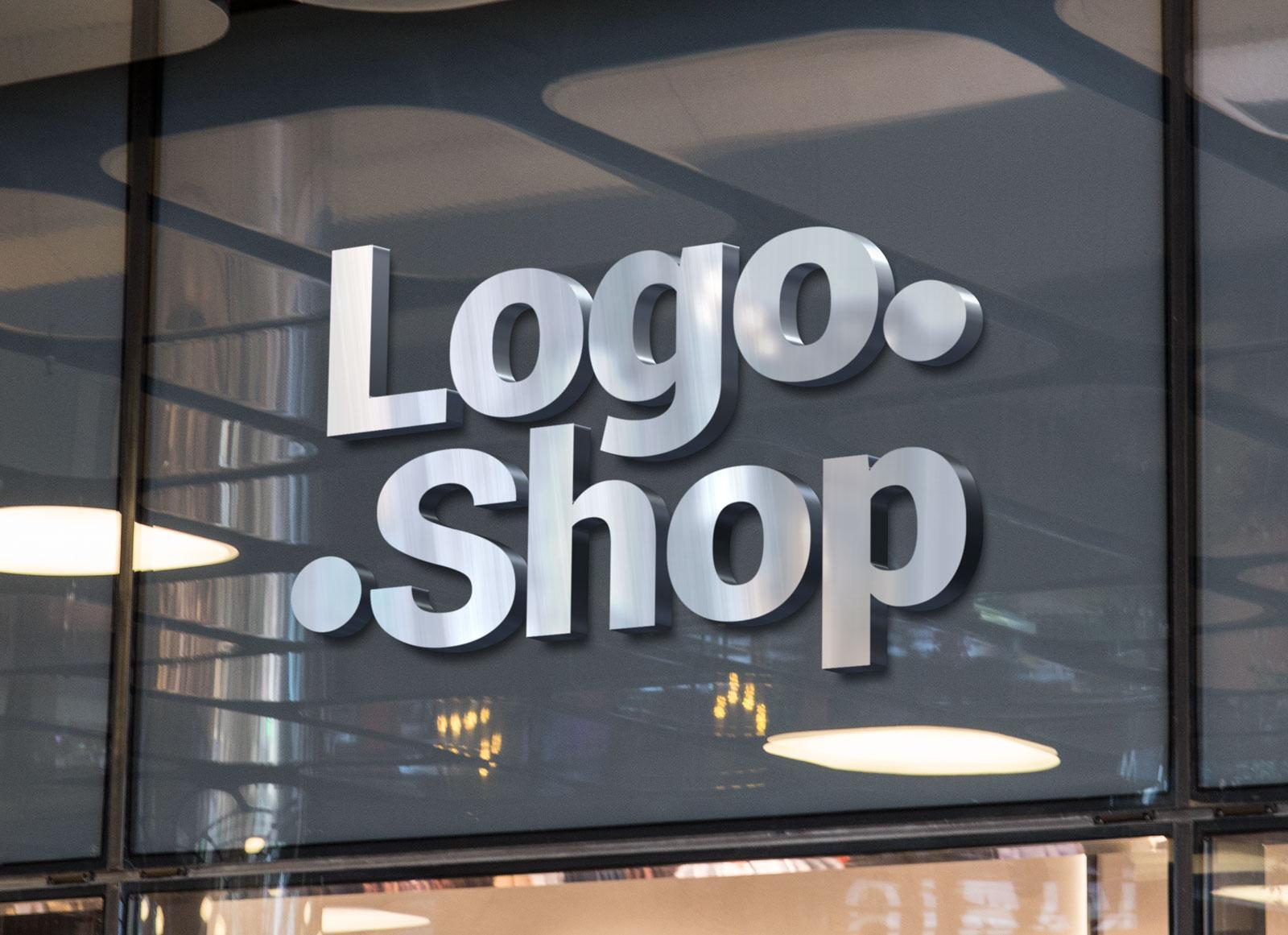 Free Shop Name Fascia Logo Mockup PSD - Good Mockups