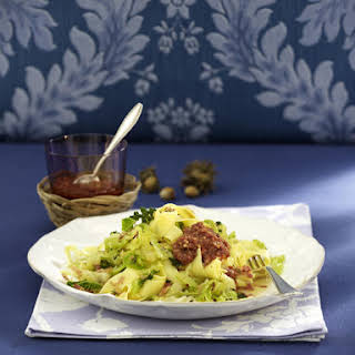 Pappardelle with Cabbage and Hazelnut Pesto.