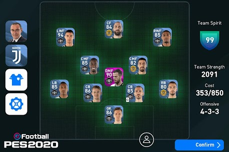 eFootball PES 2020 Apk Download For Android and Iphone 7