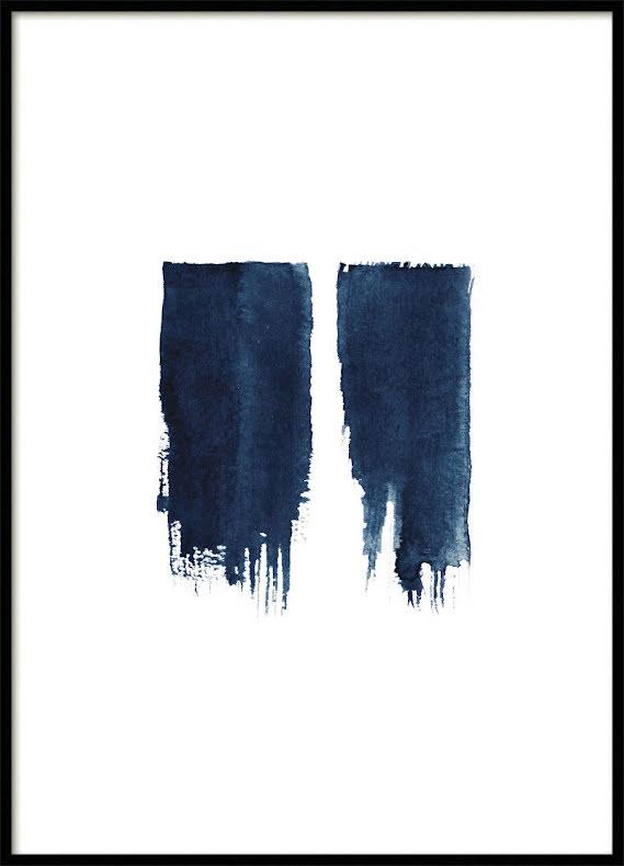 BLUE BRUSH, POSTER
