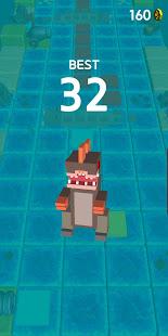 Blocky Jumping Run Avoid Shark - náhled