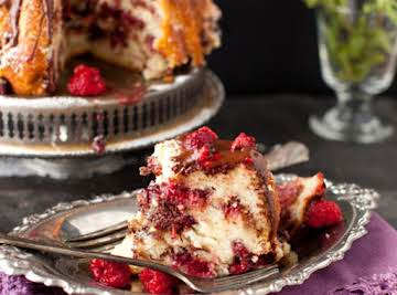 Raspberry Chocolate Coffee Cake - Sweet Weekend