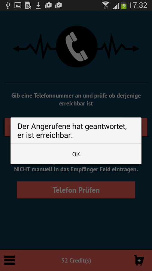 Telefon Check – Screenshot
