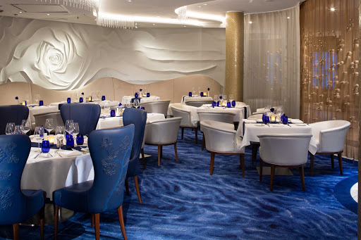 Celebrity-Apex-Blu-restaurant.jpg - Bluis the privatediningvenue with spa-style cuisine thatCelebrityCruises passengers staying in AquaClass cabins and other suites have exclusive access to.