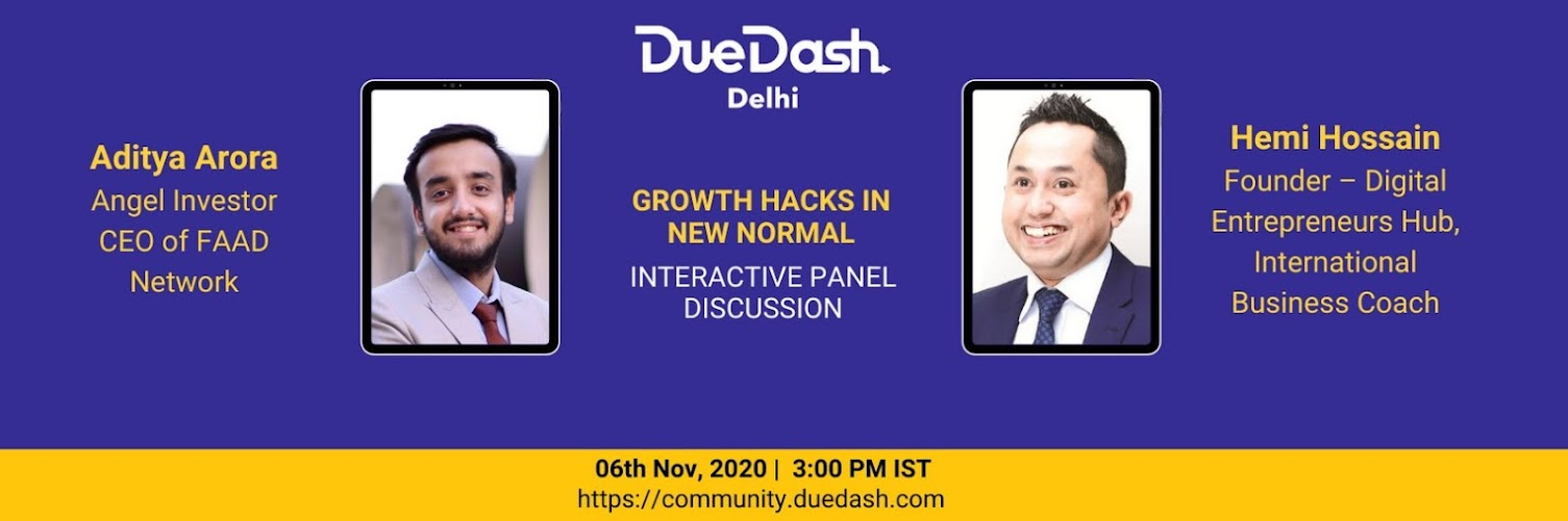 DueDash Delhi - Growth Hacks in New Normal