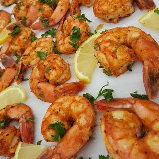 Sweet Cajun Baked Shrimp.