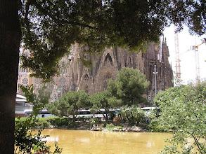 Photo: La Sagrada Família, œuvre inachevée de l'architecte Antoni Gaudí