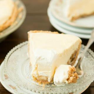 No Bake Banana Cream Pie with Nilla Wafer Crust.