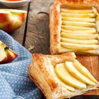 Apple Tart Recipe with Puff Pastry (Open Pie).