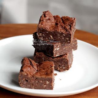 Double Chocolate Flourless Brownies.