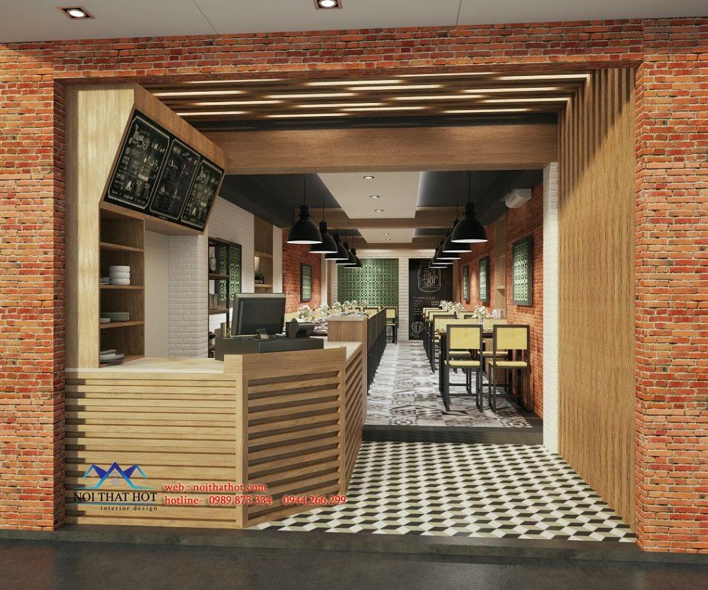 thiết kế quán ăn chuyên nghiệp, hợp lý