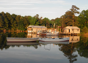 Photo: View from our port windows at Deltaville