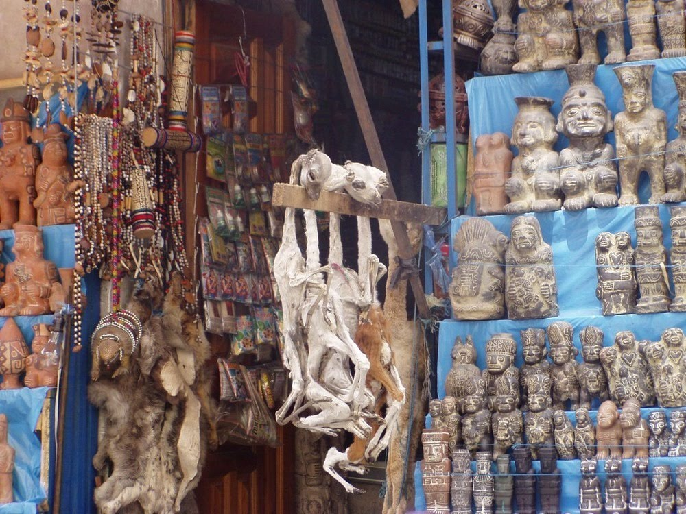 Mercado de las Brujas, o mercado das bruxas de La Paz