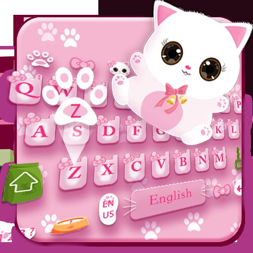 Pink Cat Lovely Keyboard