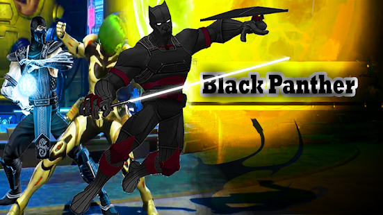 Flying black Panther hero vs black stick heroes - náhled