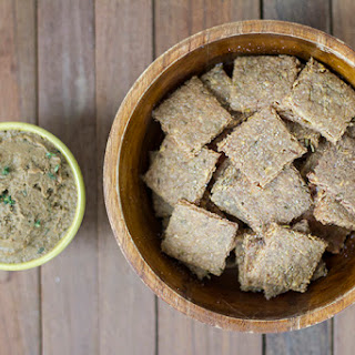 Garlic Rosemary Plantain Crackers.