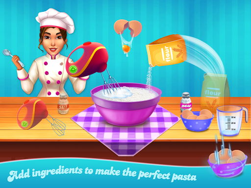 Make pasta cooking kitchen apktram screenshots 2
