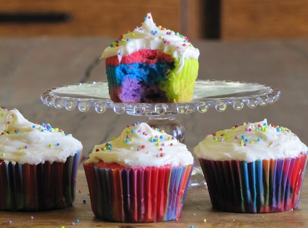 Bake according to cupcake directions. Let cool completely & frost. Enjoy!