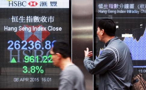 Hong Kong stocks surge over 5pc as Chinese funds flood the market