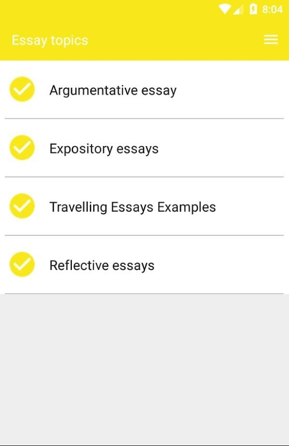 best essay topics android apps on google play best essay topics screenshot