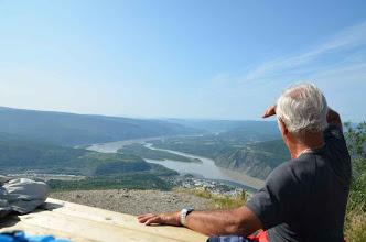 Photo: eine fantastische Sicht über Dawson City und den Yukon