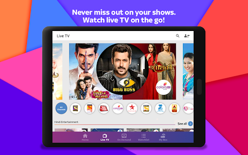 Tata Sky Mobile- Live TV, Movies, Sports, Recharge  App Download For Android and iPhone 10
