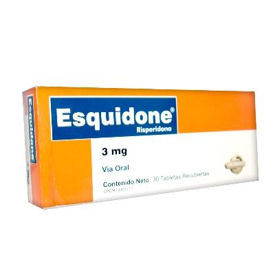 Risperidona Esquidone 3 mg x 30 Tabletas