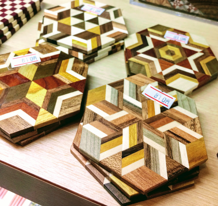 Yosegi coasters