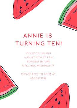 Annie's 10th Birthday - Birthday item