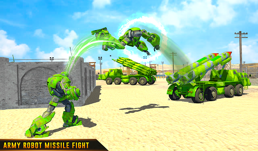 US Army Robot Missile Attack: Truck Robot Games modavailable screenshots 19