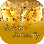 Shining Gold Butterfly Keyboard Icon