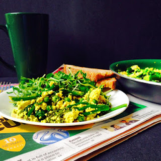 Tofu Scramble with Spring Greens.