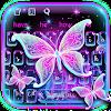 Galaxy Glitter Neon Butterfly Keyboard APK