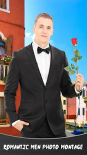 Romantické muži foto montáž - náhled
