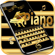 Gold Keyboard theme Gold Piano Tiles && eighth note