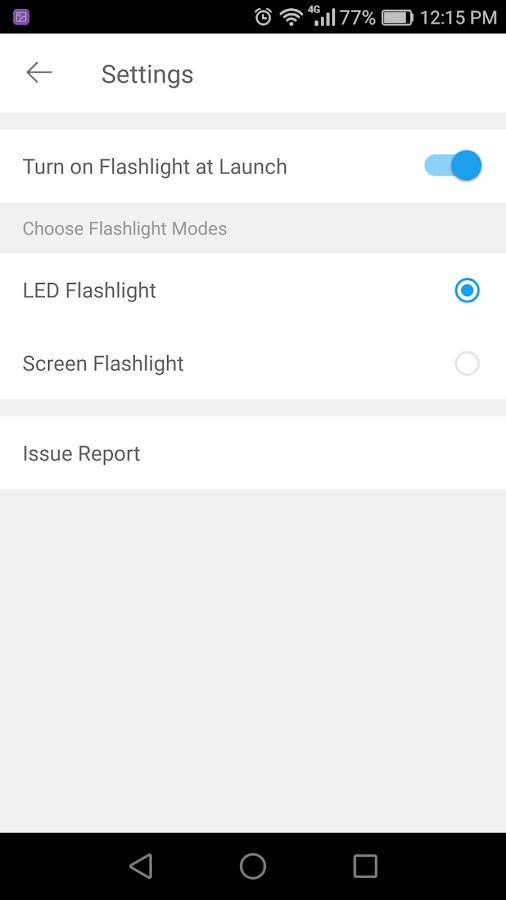 Flashlight Plugin- screenshot