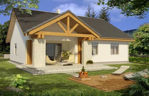projekt Ambrozja wersja A parterowa z pojedynczym garażem