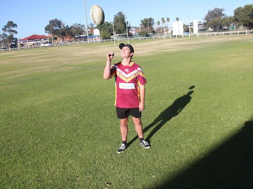 Blake Ryan in his NIAS jersey at Collins Park.