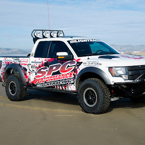 Ford Raptor at Pismo Beach Oceano Dunes by Wayne Louie - Transportation Automobiles